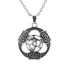 Yoga Sanskrit Aum Ohm Om Necklace Pure Spirit Sign Buddha Pendant Hinduism