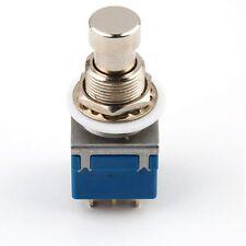 1Pc 9-Pin guitarra efectos Pedal Azul 3PDT caja stomp interruptor de pie bypass real-Reino Unido