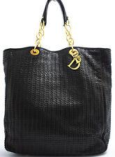 CHRISTIAN DIOR LADY DIOR SCHULTERTASCHE SHOULDER BAG LEATHER LEDER CANNAGE BLACK