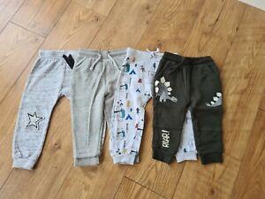 Boys Joggers Bundle Set Grey Khaki Age 18-24 Months