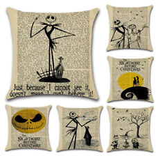 Nightmare Before Christmas Halloween Cotton Linen Pillow Case Cushion Cover  d