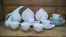 Kaffeeservice 21 Teile 6 Personen Porzellan Drop modernes Design