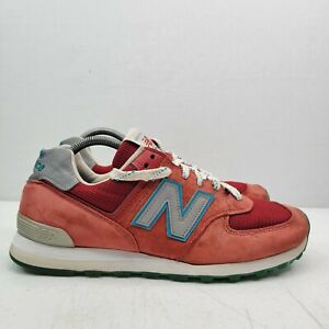 New Balance US574 Red Suede Shoes Sneakers Men's US 10 D Made In USA US574CPA