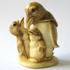 MPS Harmony Kingdom - QTs - Small Penguins Figurine - Inspired by Netsuke - NIB