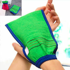 Exfoliating Body Scrub Gloves Shower Mitt Loofah Skin Massage Scrubber Glove