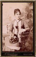 CDV photo Feine Dame / Adel ? / v. Kirchroth - Perg & St. Florian 1880er
