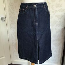 FCUK  dark blue denim skirt size 12