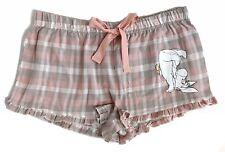 Ladies Winnie The Pooh Eeyore Pink Flannel Sleep Pyjama Shorts Medium UK 12-14
