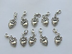 Set 10 Stitch Markers HEARTS/FLOWERS  Knitting,Crochet,Row Counters,Charms etc