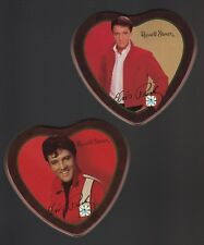 Elvis Presley: 2 (Empty) Heart Tins from *Russell Stover -2003*