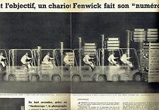 Publicité Advertising 028  1956  chariot élévateur Fenwick Stroboscope (2p)*