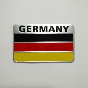 3D Metal Aluminum alloy Germany Flag Badge Car Emblem Decal Sticker logo Auto