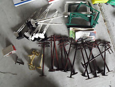 Lot of Vintage O Scale Plastic Telephone Poles Crossing Gates Billboards LOOK