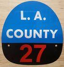 LA COUNTY 27 FIRE HELMET SHIELD
