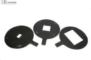 (3) Beseler 45 4x5 Negative Carriers, 35mm 35N, 6x6cm 2424N, 4x5in 54CN  #28562