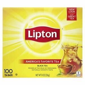 Lipton Black Tea Bags, 100% Natural Tea, 100 ct Pack of 1