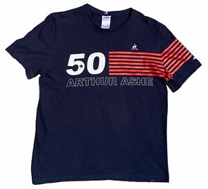 Arthur Ashe Le Coq Sportif 50th Anniversary US Open Integrity T-Shirt Mens XL