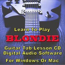 BLONDIE Guitar Tab Lesson CD Software - 8 Songs