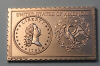 1794 United States Flowing Hair Half Dollar Numistamp Medal 1975 Mort Reed