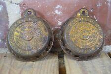 Par of Vintage Reading Hardware Cast Iron Apple Peeler Patent Plates 1878