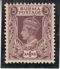 Burma 1938. George VI. 1a. Sc# 22  MNH