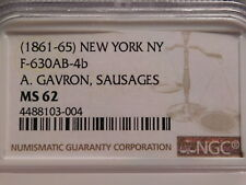 New York, New York civil war token store card Ngc Ms62