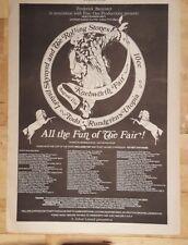 Knebworth fair Rolling Stones 10cc 1976 press advert Full page 26 x 39 cm poster
