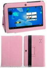 """PU LEATHER PROTECTIVE  FLIP STAND CASE COVER for 7"""" INCH ALLWINNER TABLET *PINK*"""