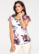 Ashley Brooke Floral Print Top White Size UK 10 rrp £45 DH170 FF 18
