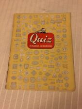 1956 QUIZ ON RAILROADS AND RAILROADING  ASSOCIATION OF AMERICAN RAILROADS TRAINS