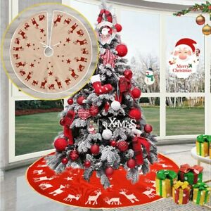 96cm Christmas Tree Skirt Base Floor Mat Cover For XMAS New Year Party Decor