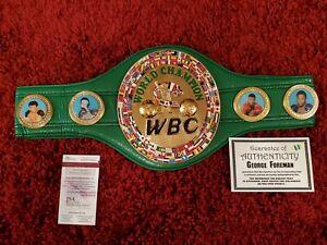 George Foreman Signed Full Size WBC Heavyweight  Championship Belt