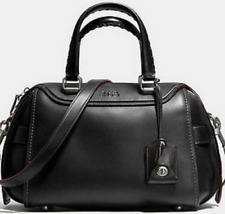 NWT Coach Ace Satchel Leather Handbag 37017 Black $595