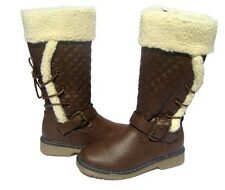 Women's Fashion BOOTS Waterproof Snow Winter Brown Ridding shoe Ladies size 10