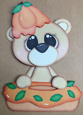 Donut Bear Pumpkin paper piecing premade piecing scrapbook page die cut CFAIRIES