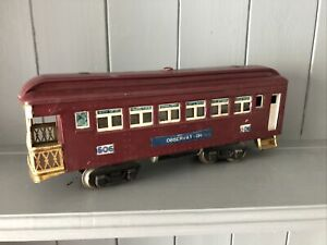 Vintage Model Train Carriage Made In America 0 Gauge Tin Toy
