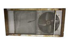 vintage Antique marvin window screen Primitive Electric fan Adjustable Expanding