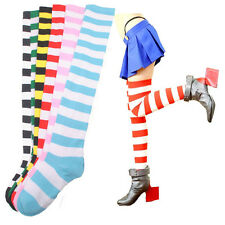 Striped THIGH HIGH SOCKS Over Knee Girls Womens Halloween Cosplay New Pop
