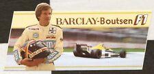 THIERRY BOUTSEN BARCLAY F1 WILLIAMS 1989 ORIGINAL PERIOD STICKER AUTOCOLLANT GP