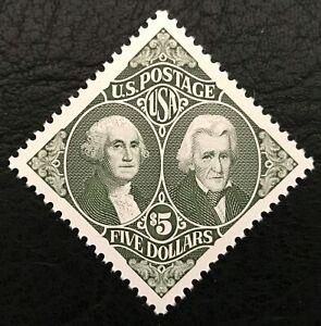 1995 Scott #2592, $5.00, G WASHINGTON & A JACKSON - Single -Mint Never Hinged