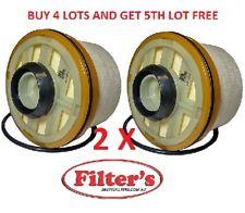 2 X Fuel Filter DAIHATSU DELTA V138 1KDFTV V158 1KDSDN 3.0L DIESEL 2004 -