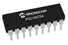 2 x Microchip PIC16C54-XT/P 8 bit Microcontroller 40MHz 0.75 kB OTP 18-Pin PDIP