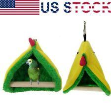 New listing Us Bird Parrot Warm Hammock Cage Hut Parakeet Tent Bed Hanging Cave Pet Supplies