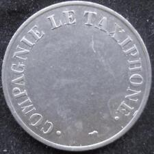 France French Telephone token Copagnie Le taxiphone Paris Mint AU 24mm CN #400