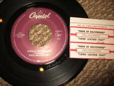 Paul McCartney 'Hope Of Deliverence/Long Leather Coat'  Jukebox 45 w/ticket