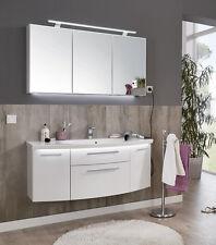 Puris Badmöbel VUELTA 05 > Polarweiß Hgl. > Spiegelschrank Waschtisch 141 cm NEU