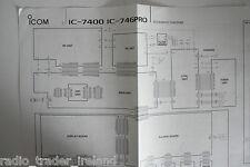 Icom 7400-746 pro (genuine schematdic diagramme seulement)... radio _ trader _ irlande.