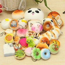 30PC Kawaii Squishies Bun Rilakkuma Toast Donut Bread Squishy Cat charms set New