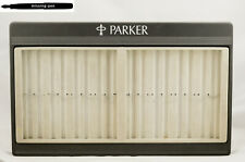 Big used Parker Pen Tray / Display for 16 Pens in Grey-Black