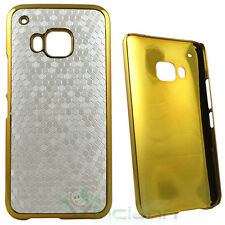 Custodia LUXURY bianca oro per HTC One M9 rigida cover case elegante nuova